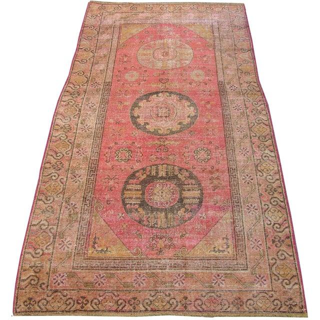 1900 - 1909 C. 1900s Antique Handmade Samarkand Rug - 5′8″ × 12′ For Sale - Image 5 of 6