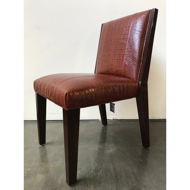 Ralph Lauren Home Modern Metropolis Leather Side Chair - Image 4 of 10