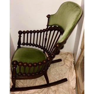Late 19th Century Antique Hunzinger Lollipop Rocking Chair Preview