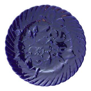 Majolica Blue Sarreguemines Plate For Sale