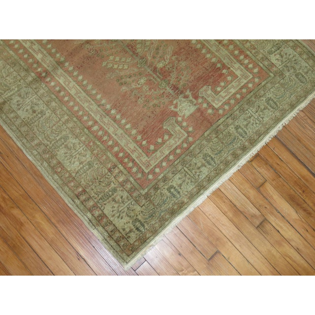 Turkish Anatolian Prayer Niche Rug - 4′2″ × 5′4″ For Sale In New York - Image 6 of 10