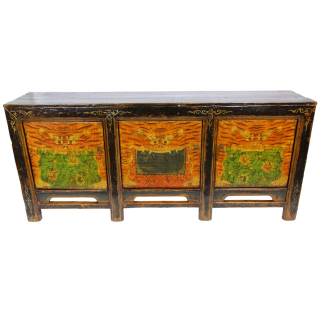 19th-C. Mongolian Tiger Sideboard - Image 1 of 3