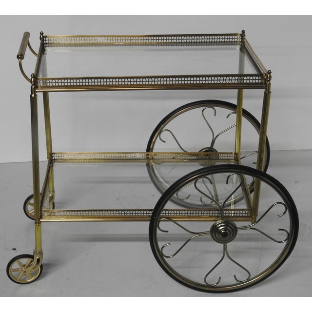 French Modern Rolling Bar Cart - Image 3 of 9