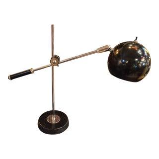 Mid Century Modern Robert Sonneman Black Desk Lamp For Sale