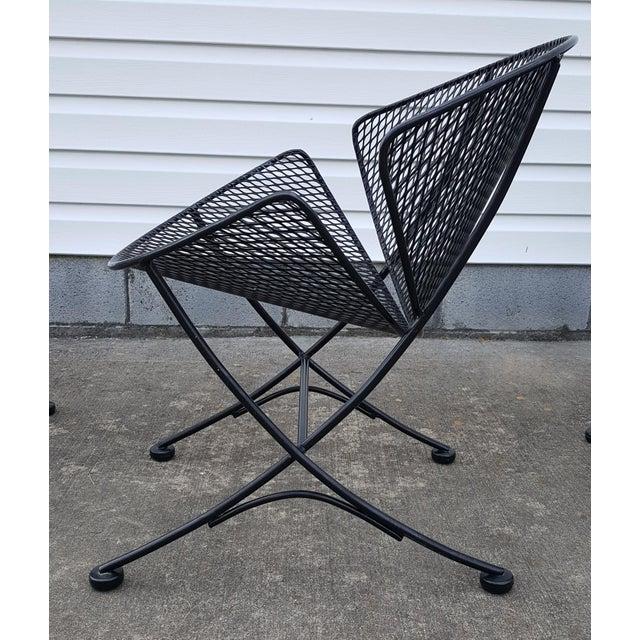 "1960s 1960s Vintage Tempestini for Salterini Patio Garden ""Clamshell"" ""Orange Slice"" Chair For Sale - Image 5 of 13"