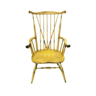 20th Century Yellow Fanback Windsor Chair by Bill Wallick For Sale