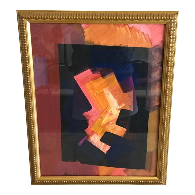 Erle Loran Abstract Gouache - Image 1 of 6
