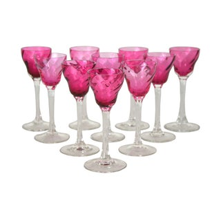 Vintage Raspberry Cordials - Set of 10