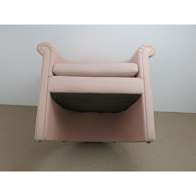 1960s Milo Baughman Style Muted Rose Pink Barrel Back Tub Chairs - a Pair For Sale - Image 12 of 13