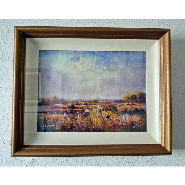 Irish Oil on Canvas of Ballaghadereen Bog by Seamus Coleman For Sale - Image 9 of 9