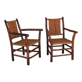 Old Hickory Side Chairs - a Pair For Sale