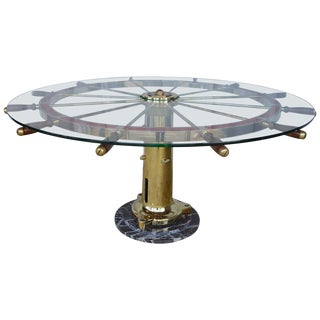Ship Helm Centre Table For Sale