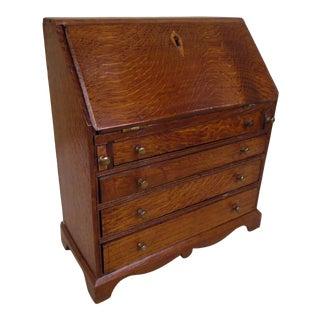 19th Century Miniature Replica of an Oak Fall Front Desk For Sale
