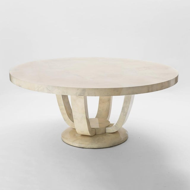 Contemporary Monumental Goatskin Dining Table, Usa For Sale - Image 3 of 3