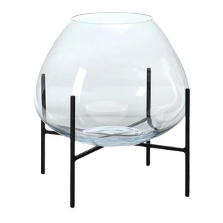 Kenneth Ludwig Chicago Blown Glass Terrarium on Stand For Sale