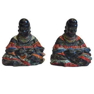 Vintage Tribal African Sculptures - A Pair For Sale