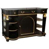 Image of Exceptional French Empire Style Ebonized Server / Sideboard / Credenza by Jansen For Sale