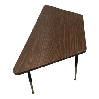 Mid-Century Modern Trapezoidal School Work Table by Virco For Sale