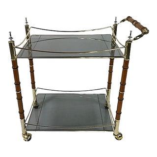 Mid Century Hollywood Regency Bar Cart For Sale