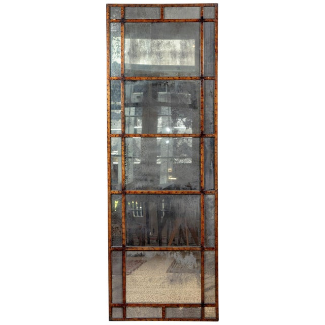 Vintage Smokey Mirrored Panel For Sale