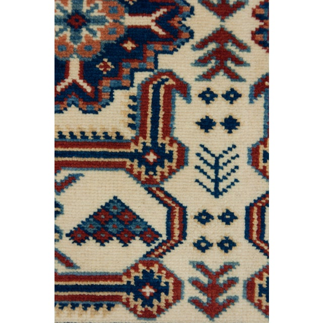 """New Traditional Hand Knotted Area Rug - 4'4"""" x 6'2"""" - Image 3 of 3"""