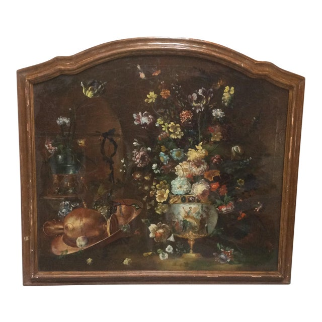 Decorative Italian Still Life Floral Painting B For Sale