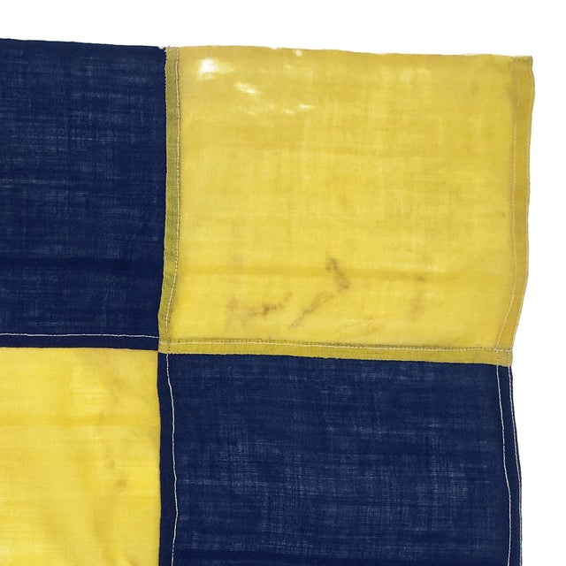 1940s Nautical Wool Signal Flag For Sale - Image 4 of 6