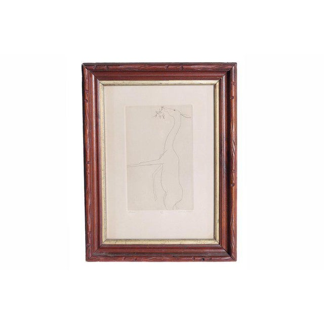 Etching of a Deer by Beth Van Hoesen (1926-2010) California For Sale - Image 13 of 13