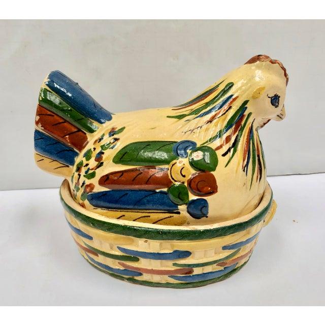 Mexican Tlaquepaque Folk Art Nesting Chicken For Sale In Dallas - Image 6 of 12