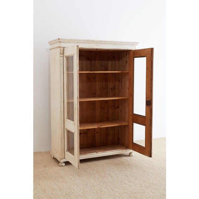 Swedish Gustavian Style Pine Bibliotheque Bookcase For Sale - Image 9 of 13