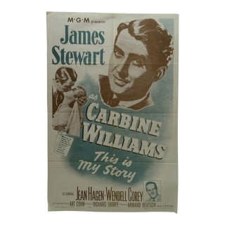 "Vintage Movie Poster ""Carbine Williams"" James Stewart, 1965"