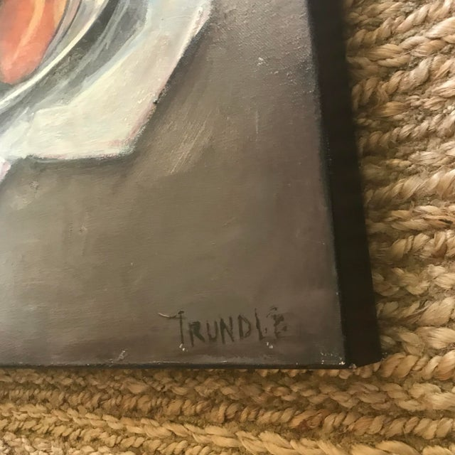 """Sarah Trundle """"Peaches"""" Contemporary Still Life Painting by Sarah Trundle For Sale - Image 4 of 4"""