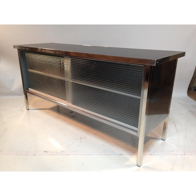 Industrial Steelcase Credenza For Sale - Image 3 of 7