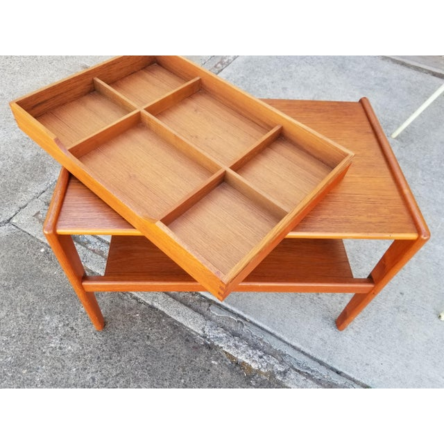 Teak Danish Modern Side Table With Drawer For Sale In San Francisco - Image 6 of 11