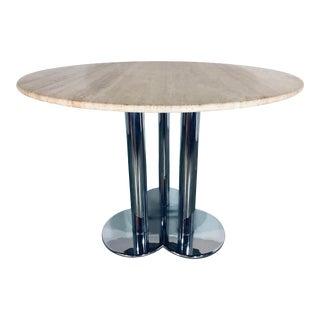 """Sergio Asti for Poltronova """"Trifoglio"""" Travertine Dining Table For Sale"""