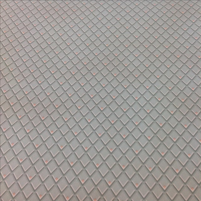 Vintage Petite Diamond Wallpaper - 2 Bolts For Sale - Image 4 of 9