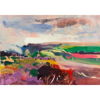 John Maxon Evening Landscape Circa 1985 For Sale