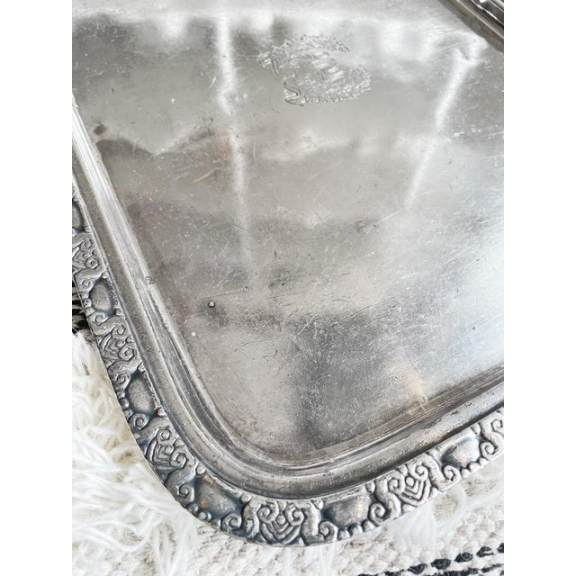 A beautiful vintage circa 1951 heavy silver plated serving tray from the famous Waldorf Astoria Hotel in New York City!...
