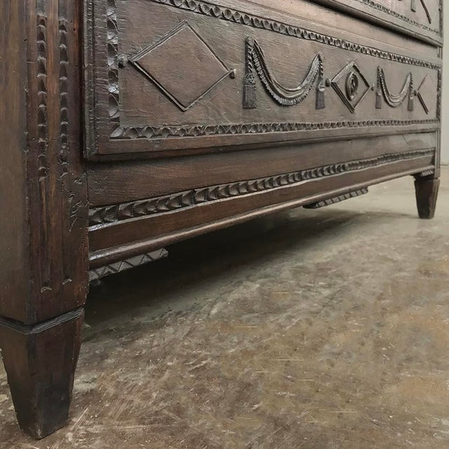 Wood 18th Century Country French Louis XVI Commode For Sale - Image 7 of 12