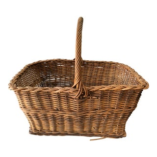 1930s Antique French Basket For Sale