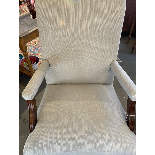 English 1930s Vintage Mahogany Lolling Chair For Sale - Image 3 of 8