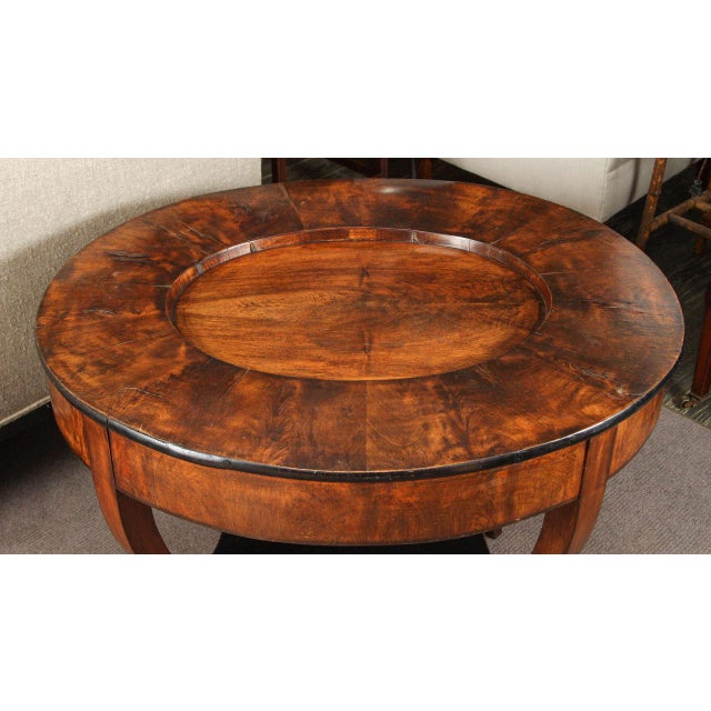 Early 20th Century Georgian Burl Wood Tray Top Coffee Table For Sale In Los Angeles - Image 6 of 9