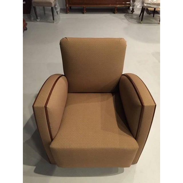 French Art Deco Club Chairs - A Pair - Image 7 of 9