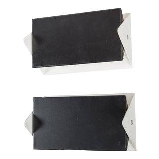 1950s j.j.m. Hoogervorst Black and White Wall Lights for Anvia - a Pair For Sale