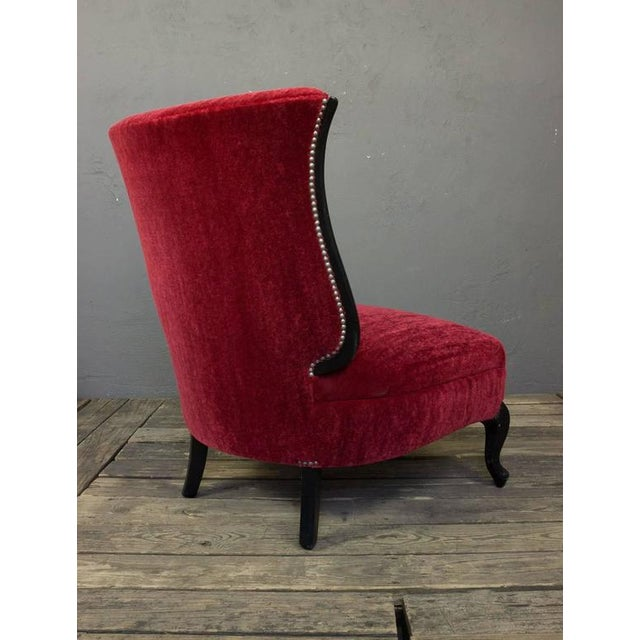 American Mid-Century Scrolled Leg Slipper Chair For Sale - Image 4 of 11