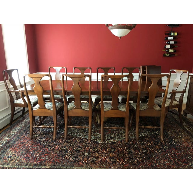 Craftique Solid Mahogany Dining Set For Sale - Image 10 of 10