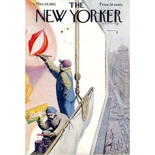 Vintage 1952 New Yorker Cover, March 29 (Arthur Getz), City Life, Advertising For Sale