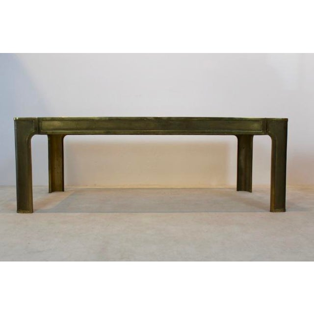 Peter Ghyczy Style Brass and Glass Coffee table - Image 2 of 8