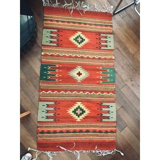 Vintage Navajo Geometric Flatweave Rug - 2′4″ × 4′10″ Preview