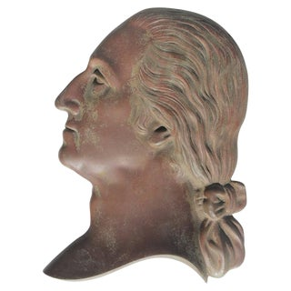 19th Century Bronze Plaque of George Washington For Sale